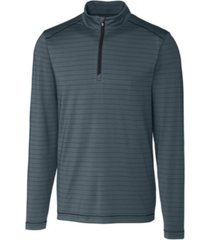 cutter & buck men's big & tall holman stripe half zip sweatshirt