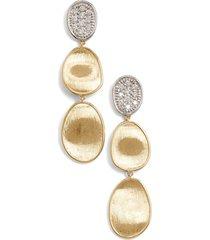 women's marco bicego lunaria diamond drop earrings
