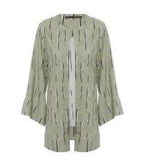 casaco feminino kimono riscos - verde