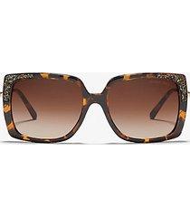 mk occhiali da sole rochelle - marrone (marrone) - michael kors
