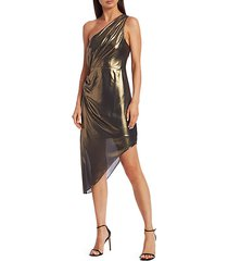 susanna metallic asymmetrical dress