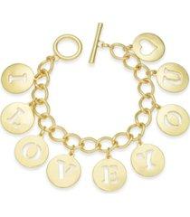 holiday lane i love you charm bracelet, created for macy's