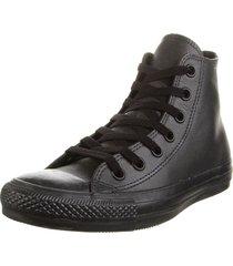 zapatilla negra converse chuck taylor as leather