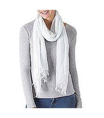 pima cotton shawl, 'beach spirit' (peru)