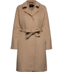sldaniella coat wollen jas lange jas beige soaked in luxury
