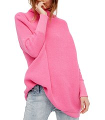 women's free people ottoman slouchy tunic, size x-large - pink