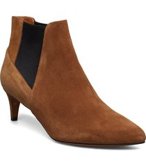 cynara cappuccino suede shoes boots ankle boots ankle boots with heel brun atp atelier