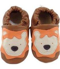 pantufa catz calçados infantil couro nicky leão - unissex