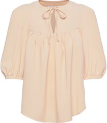top blouses short-sleeved beige see by chloé
