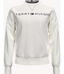 tommy hilfiger men's essential logo sweatshirt snow white - xxl