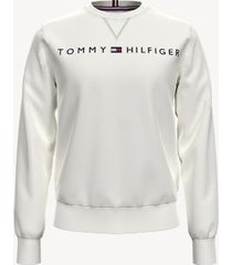tommy hilfiger men's essential logo sweatshirt white - xxl