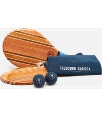 frescobol carioca men's leblon beach bat set - blue
