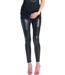 preggo leggings rockstar mamacita moto faux maternity leggings