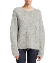 cinq à sept women's daniella fuzzy sweater - red - size m