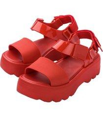 sandalia kick off sandal casual rojo melissa