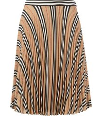 burberry pleated stripe skirt