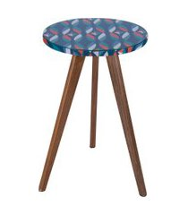 mesa lateral alta daf mobiliário minion colorido/azul