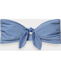 scotch & soda striped bandeau bikini top