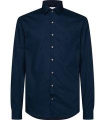 calvin klein calvin klein dark blue cotton shirt