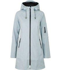 jas softshell rain lichtblauw