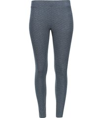 legging bosse estampado color gris, talla s