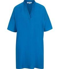 tunica lunga a maniche corte (blu) - bpc bonprix collection
