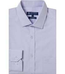 camisa dudalina manga longa fio tinto maquinetada masculina (rosa claro, 48)