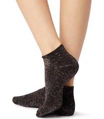 calzedonia - short cotton socks, one size, black, women