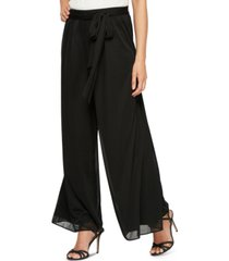 alex evenings sash-belt wide-leg pants, regular & petite sizes