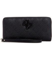guess noelle large zip around wallet wristlet