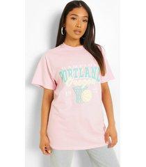 petite katoenen overdye portland t-shirt, light pink