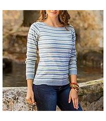 cotton sweater, 'wedgwood horizon' (guatemala)