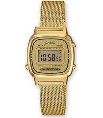 la-670wemy-9 reloj digital dorado retro dama
