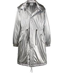 ambush padded fishtail coat - silver