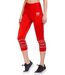 legging mid flashy rojo ngx