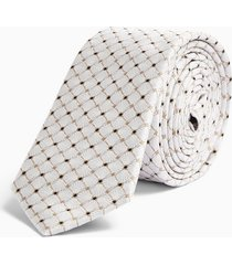 mens gold tile print tie