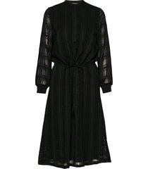freya elin long dress jurk knielengte zwart bruuns bazaar