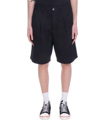 marni shorts in black cotton