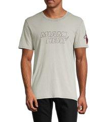 zadig & voltaire men's miami heat cotton tee - grey - size xl