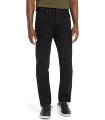 men's kato straight fit stretch selvedge jeans, size 33 - black