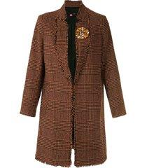 eva tweed half sleeve coat - orange
