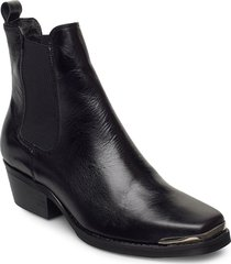 elle shoes boots ankle boots ankle boot - heel svart pavement