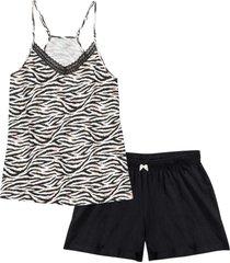 pigiama estivo con spalline sottili (nero) - bpc bonprix collection