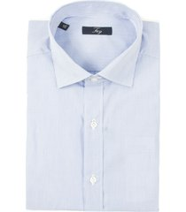 fay light blue stripes cotton shirt