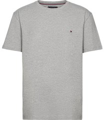 core stretch slim cneck tee t-shirts short-sleeved grå tommy hilfiger