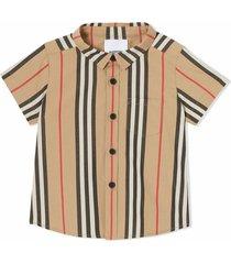 burberry beige cotton poplin shirt