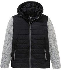 giacca trapuntata con maniche in maglia (nero) - bpc bonprix collection