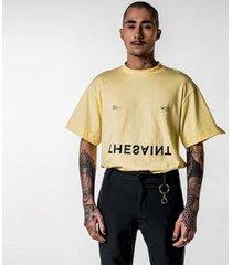 t-shirt thesaint oversized retro yellow iris genesis ii - gg - unissex