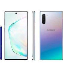 smartphone samsung galaxy note 10 256gb prata 4g