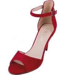 sandalia mujer nicoletta rojo weide